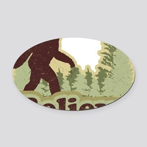 believe Oval Car Magnet