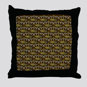 MGPearlCrownPbrKduvetC Throw Pillow