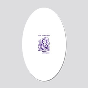 MadHatterTwinkleProofTranspI 20x12 Oval Wall Decal