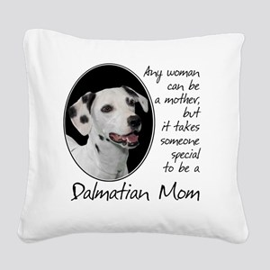 Dalmatian Mom Square Canvas Pillow