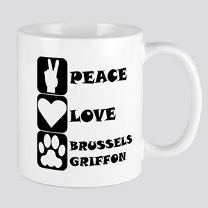 Peace Love Brussels Griffon Mugs