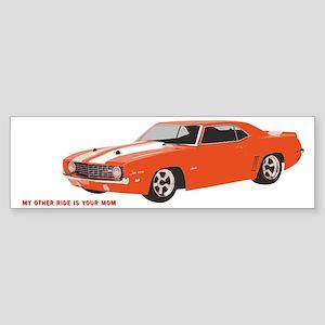 69 Camaro Hot Rod Sticker (Bumper)