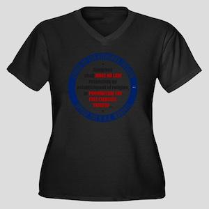 mar12_oppose Women's Plus Size Dark V-Neck T-Shirt