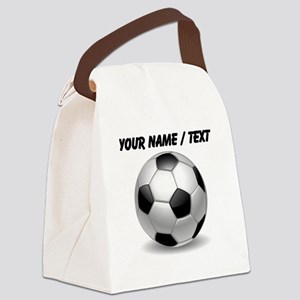 Custom Soccer Ball Canvas Lunch Bag
