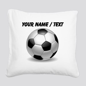 Custom Soccer Ball Square Canvas Pillow