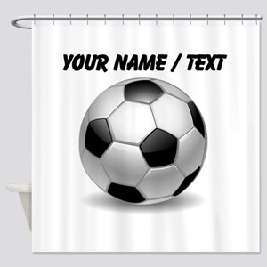 Custom Soccer Ball Shower Curtain