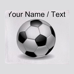 Custom Soccer Ball Throw Blanket
