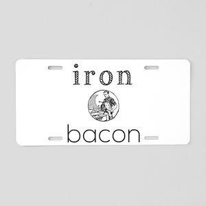 iron bacon Aluminum License Plate