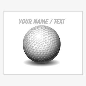 Custom Golf Ball Poster Design