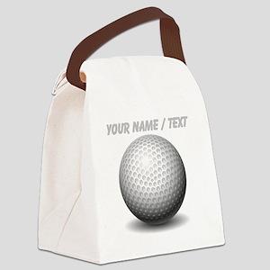 Custom Golf Ball Canvas Lunch Bag