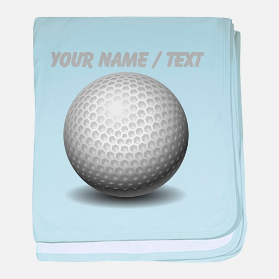 Custom Golf Ball baby blanket