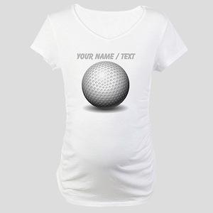 Custom Golf Ball Maternity T-Shirt