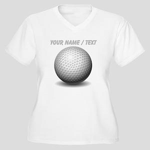 Custom Golf Ball Plus Size T-Shirt