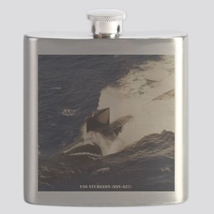 sturgeon framed panel print Flask
