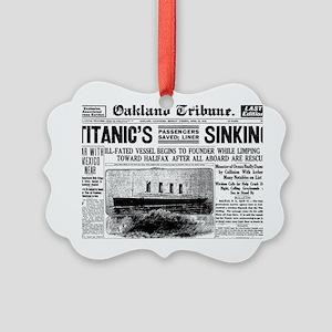 Oakland Tribune-TITANIC15-apr-191 Picture Ornament