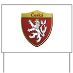 Czech Metallic Shield Yard Sign