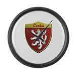 Czech Metallic Shield Large Wall Clock