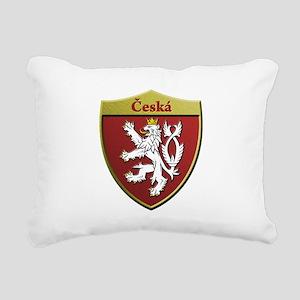 Czech Metallic Shield Rectangular Canvas Pillow