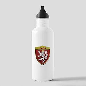 Czech Metallic Shield Water Bottle