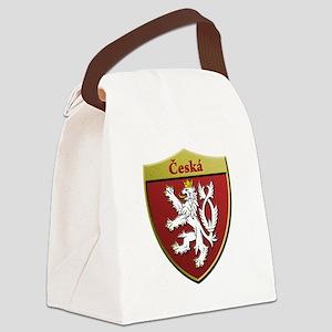 Czech Metallic Shield Canvas Lunch Bag