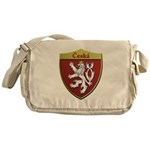 Czech Metallic Shield Messenger Bag