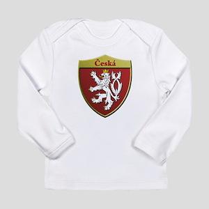 Czech Metallic Shield Long Sleeve T-Shirt