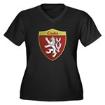 Czech Metallic Shield Plus Size T-Shirt