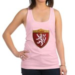 Czech Metallic Shield Racerback Tank Top