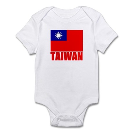 Taiwan Flag T Shirts Infant Bodysuit