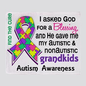 D Blessing 4 Autism Grandkids 2 Past Throw Blanket