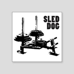 "sled Square Sticker 3"" x 3"""