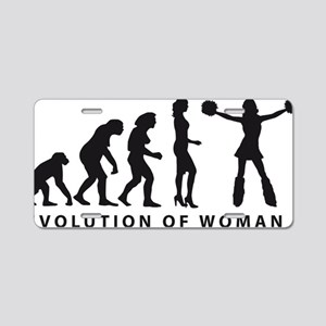 EVOLUTION Cheerleader 03-20 Aluminum License Plate