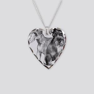 schnauzers Necklace Heart Charm
