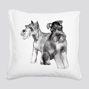 schnauzers Square Canvas Pillow
