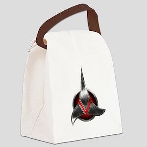 Star Trek KLINGON Metal Logo Canvas Lunch Bag