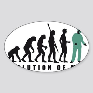 Evolution Chirurg 2c Sticker (Oval)