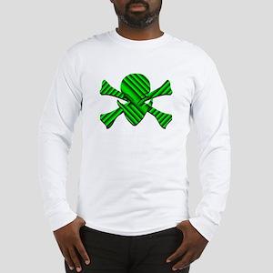 Alien Jolly Roger in Green Long Sleeve T-Shirt