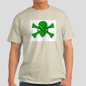 Alien Jolly Roger in Green Light T-Shirt