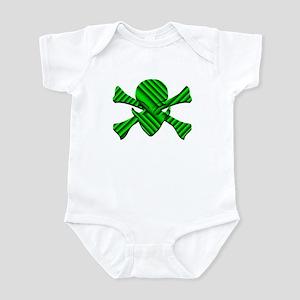 Alien Jolly Roger in Green Infant Bodysuit