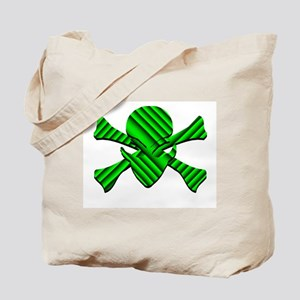Alien Jolly Roger in Green Tote Bag