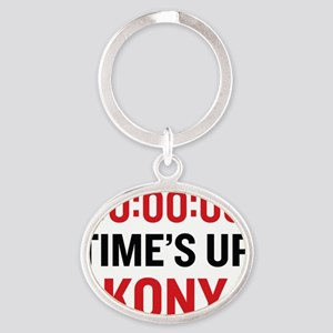 times up Oval Keychain