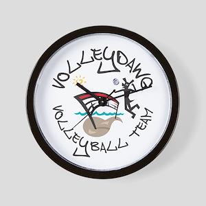 Volleydawg Team Wall Clock