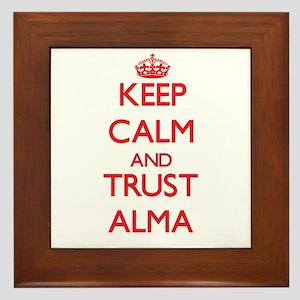 Keep Calm and TRUST Alma Framed Tile