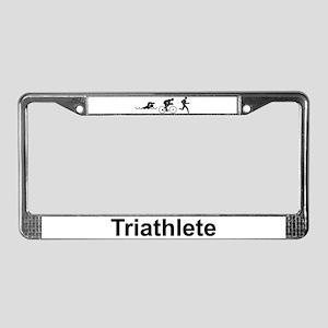 Men's Triathlete License Plate Frame