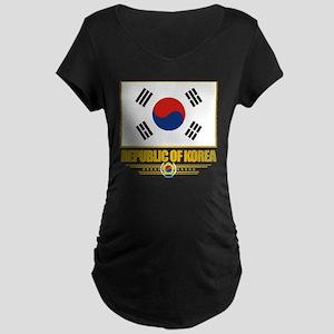 South Korea (Flag 10) Maternity Dark T-Shirt