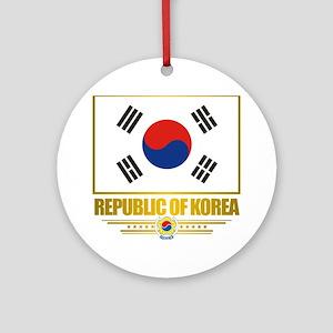 South Korea (Flag 10) Round Ornament