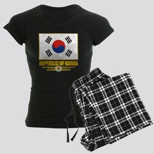 South Korea (Flag 10) Women's Dark Pajamas
