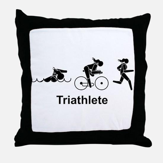 Ladies' Triathlete Throw Pillow