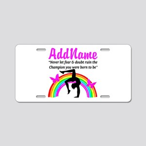 GYMNAST 10.0 Aluminum License Plate