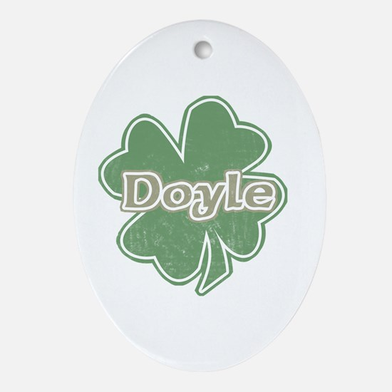 """Shamrock - Doyle"" Oval Ornament"